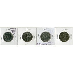 LOT OF 4 FIVE CENT COINS (CANADA) *1968, 1944, 1934, 1946*