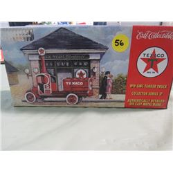 METAL COIN BANK (TEXACO) *SPECIAL CHROME MILLENIUM EDITION* (1972 GAS TANKER TRUCK)