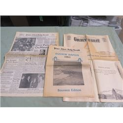 LOT OF NEWSPAPERS (PRINCE ALBERT DAILY HERALD) *SOVENIER ADDITION 1905-1955* (SQUAW RAPIDS 1963 EDIT