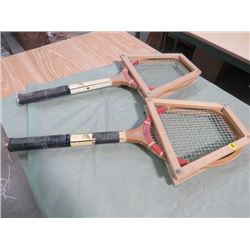 LOT OF 2 TENNIS RACKETS (WOODEN) *VINTAGE*