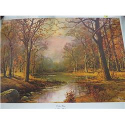 PRINT (OCTOBER MOON BY ROBERT WOOD) *NOT FRAMED* (SIGNED)