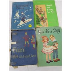 LOT OF BOOKS (FUN WITH DICK AND JANE, BECONING TRAILS, HEALTH AND SAFETY, READ ME A STORY)