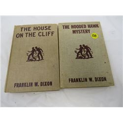 LOT OF BOOKS ( THE HOODED HUNIK, THE HOUSE ON THE CLIFF) *FRANKLIN W. DIXON*