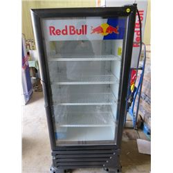 "RED BULL FRIDGE ( 52.5X23X24.5) *NOT GARANTEED TO WORK, SOLD IN ""AS IS"" CONDITION*"