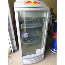 "RED BULL FRIDGE/COOLER (57X24X23)*NOT GARANTEED TO WORK, SOLD IN ""AS IS"" CONDITION*"