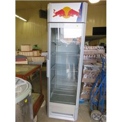 "RED BULL FRIDGE/COOLER (70X24X26)*NOT GARANTEED TO WORK, SOLD IN ""AS IS"" CONDITION*"