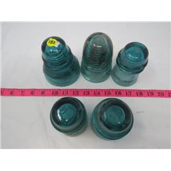 LOT OF 6 INSULATORS