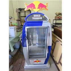 "RED BULL FRIDGE/COOLER (65X32X19)*NOT GARANTEED TO WORK, SOLD IN ""AS IS"" CONDITION*"