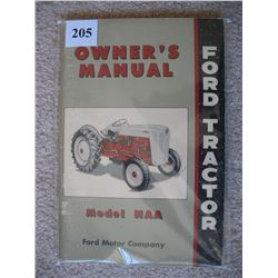 FORD TRACTOR MANUAL  (MODEL NAA)