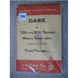 CASE TRACTOR MANUAL  (730 and 830 SERIES)