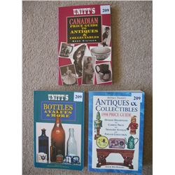 LOT OF 3  ANTIQUE REFERENCE AND PRICE GUIDES  (BOTTLES AND OTHER ANTIQUES)