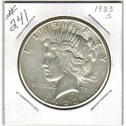 SILVER DOLLAR  (US PEACE) *1923S*