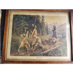 """FABULOUS FRAMED PRINT (VINTAGE) *""""CHALLENGED BY WALTER HINTON* (28"""" X22"""")"""