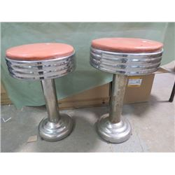 LOT OF 2 DINNER STOOLS