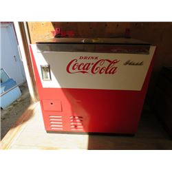 "CHEST TYPE COOLER (COCA-COLA) *35"" X 36"" X 20""* (PLEASE NOTE BIDS WILL START AT $100 AND INCREASE IN"
