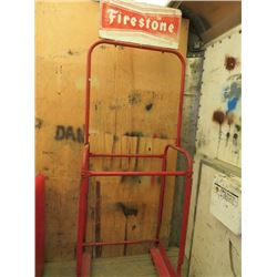 "TIRE RACK (FIRESTONE) *82"" X 27""*"