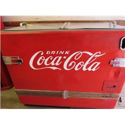 "CHEST TYPE COOLER (COCA-COLA) *36"" X 42"" X 26""* (NOT RESTORED) *PLEASE NOTE BIDS WILL START AT $100"