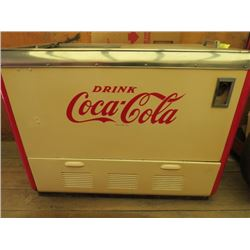 "CHEST TYPE COKE COOLER ( COCA-COLA) *RESTORED* (34"" X 44"" X 25"")*PLEASE NOTE BIDS WILL START AT $100"