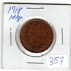 1918 LARGE CENT GOOD CONDITION