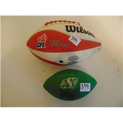 WILSON'S SMALLER CFL PRO SPIRAL AND MINI ROUGHRIDERS FOOTBALL