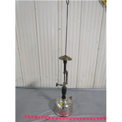 """SUNSHINE OF THE NIGHT CHROME BASE LAMP """"COLEMAN"""" 31 INCHES TALL"""