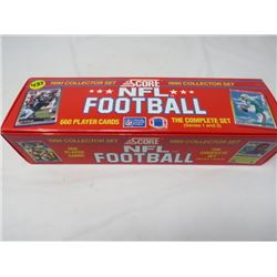 1990 COLLECTOR'S SET NFL FOOTBALL 600 PLAYER CARDS, THE COMPLETE SERIES 1 AND 2