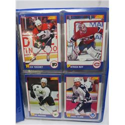 LOT OF ASSORTED HOCKEY CARDS AND CARD HOLDER (KELLOGGS CORN FLAKES) *MIXED TEAMS*