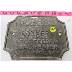 BOOKER STOVE PLATE