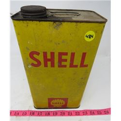 SHELL OIL CAN (1 GALLON)