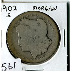 SILVER DOLLAR (USA MORGAN) * 1902S*