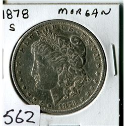 SILVER DOLLAR (USA MORGAN) * 1878S*