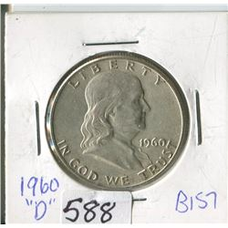 FIFTY CENT COIN (USA) * 1960D*