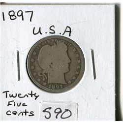 TWENTY FIVE CENT COIN (USA) *1897*