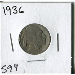 5 CENT COIN (USA, INDIAN HEAD) *1936*