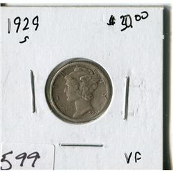 TEN CENT COIN (USA, MERCURY) *1929S*