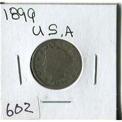 FIVE CENT COIN (USA, BARBER) *1899*