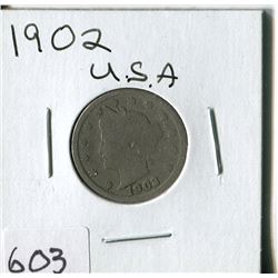 FIVE CENT COIN (USA, BARBER) *1902*