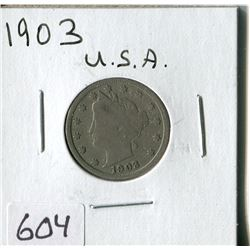FIVE CENT COIN (USA, BARBER) *1903*