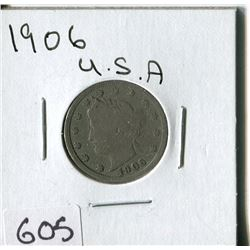 FIVE CENT COIN (USA, BARBER) *1906*