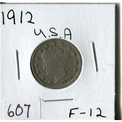 FIVE CENT COIN (USA, BARBER) *1912*