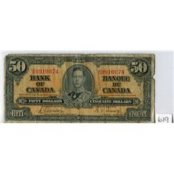 FIFTY DOLLAR NOTE (BANK OF CANADA) *1937*