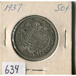 FIFTY CENT COIN ( CANADA) * 1937*