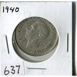 FIFTY CENT COIN ( CANADA) * 1940*