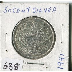 FIFTY CENT COIN ( CANADA) * 1941*