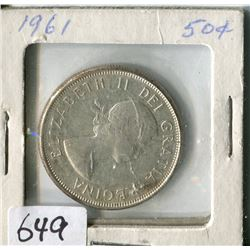 FIFTY CENT COIN ( CANADA) * 1961*