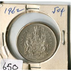 FIFTY CENT COIN ( CANADA) * 1962*
