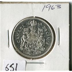 FIFTY CENT COIN ( CANADA) * 1963*