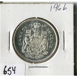 FIFTY CENT COIN ( CANADA) * 1966*