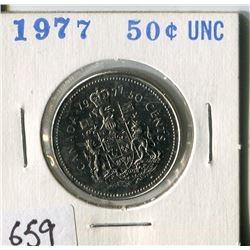 FIFTY CENT COIN ( CANADA) * 1977*