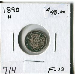 CANADA FIVE CENT COIN (1890H)